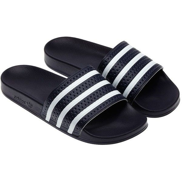 623f7e5734b6 Adidas adilette Slides (€27) ❤ liked on Polyvore featuring men s fashion