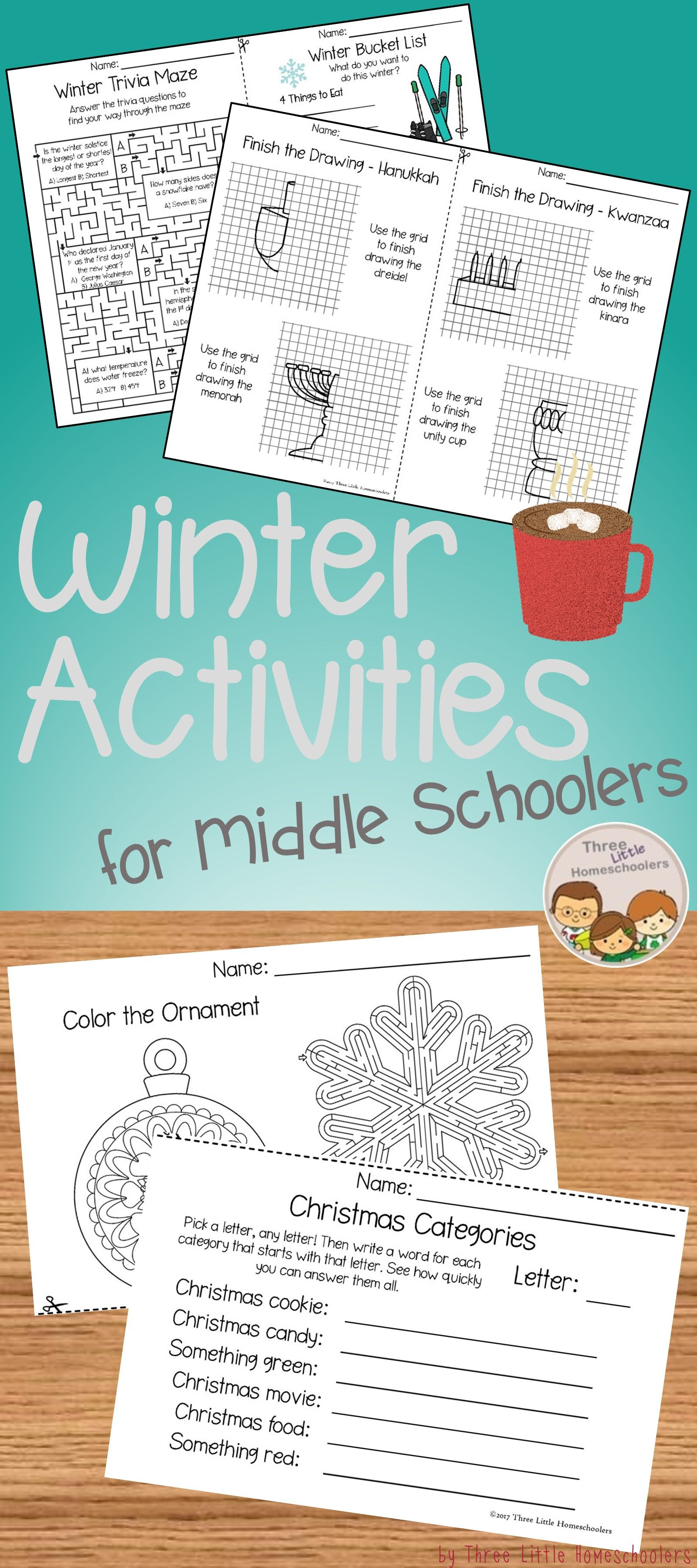 Winter Activities for Older Kids - No Prep | Pinterest | Winter ...