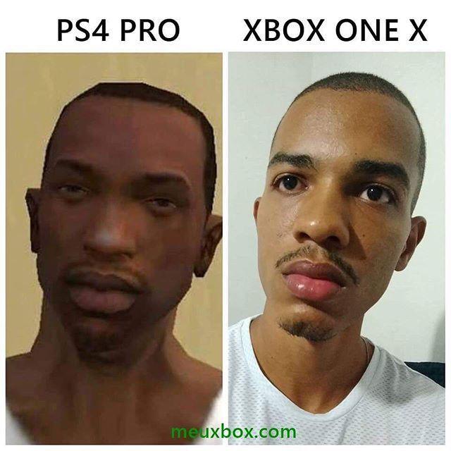 Ps4 Pro Vs Xbox One X Gta San Andreas Xboxmemes Com Imagens