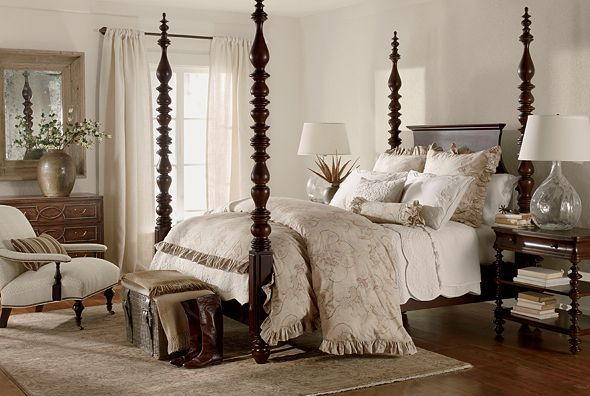 Love the four poster bed!