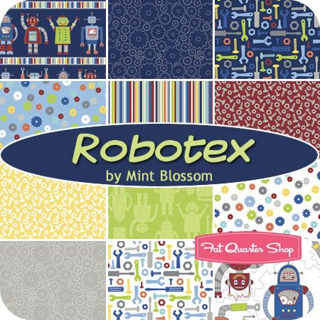 Robotex Fat Quarter Bundle Mint Blossom for Northcott Fabrics #FQSgiftguide #youngsters