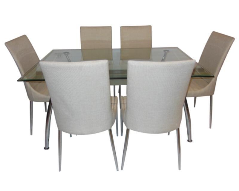 Comedor linda con 6 sillas coppel muebles pinterest for Comedores coppel