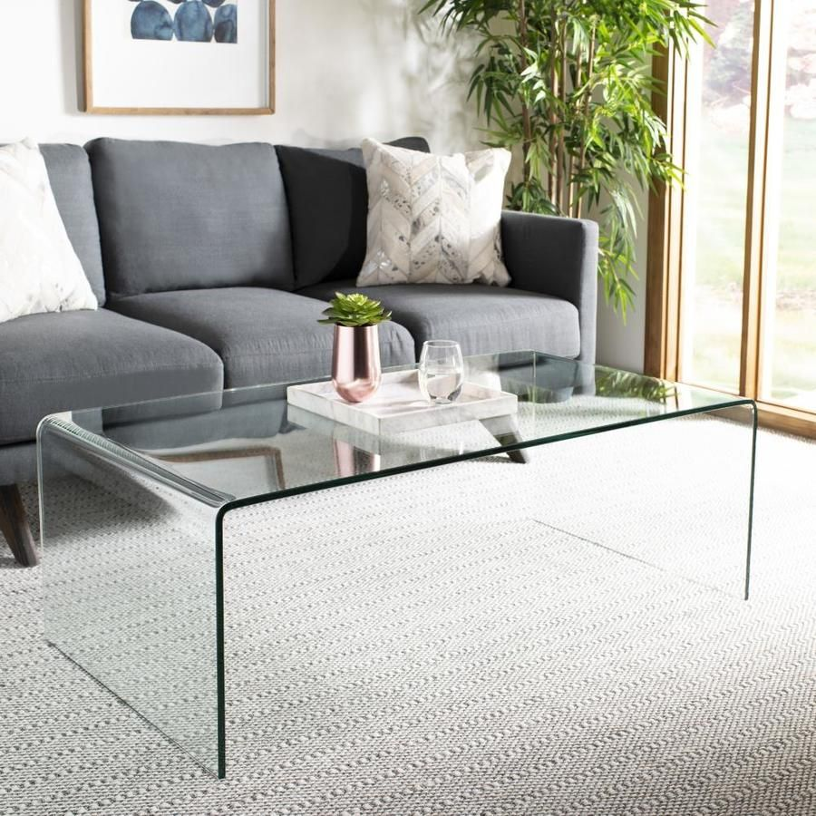 Safavieh Willow Glass Coffee Table Lowes Com Clear Coffee Table Glass Coffee Table Decor Coffee Table [ 900 x 900 Pixel ]
