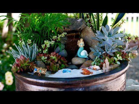 Beach Fairy Garden // Garden Answer - YouTube | Fairy Garden Videos ...