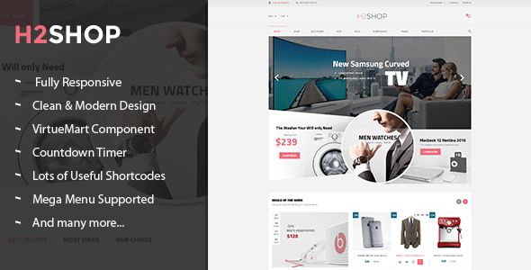 H2shop - Responsive Multipurpose VirtueMart Theme | Template and ...
