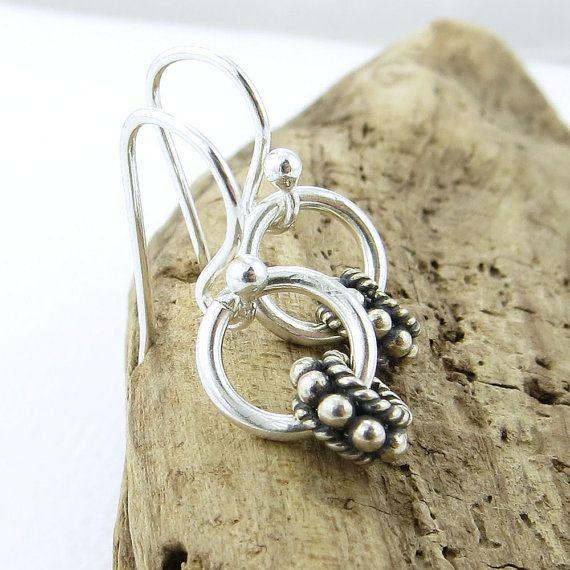 Sterling Silver Earrings Tiny Silver Earrings от JenniferCasady