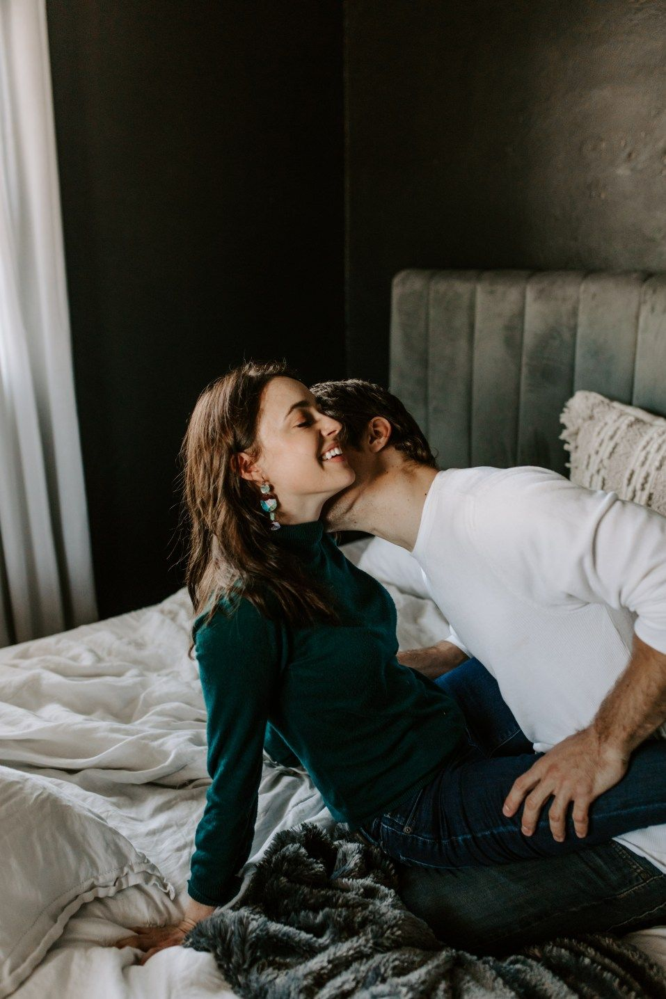 Winter Garden Couple Home Session Romantic Couple Kissing Cute Love Couple Couples In Love