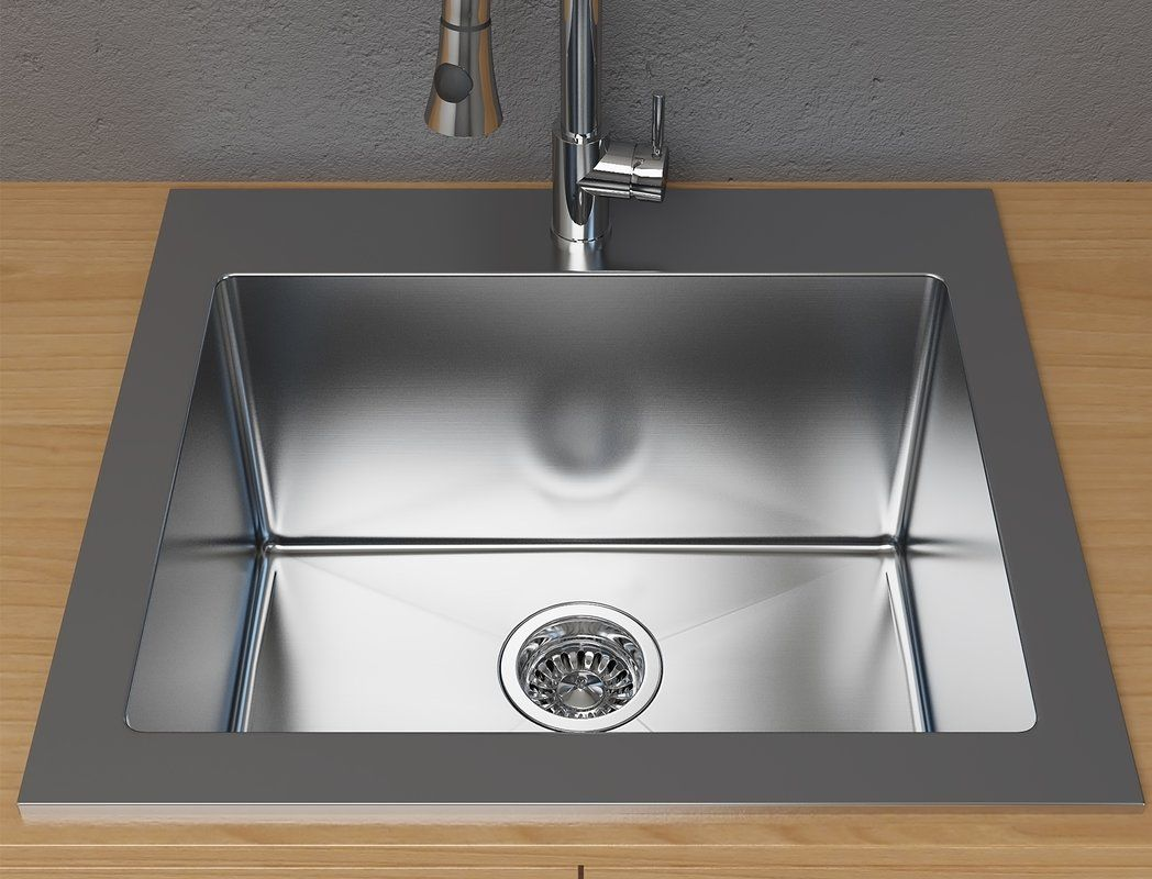 Stainless Steel 25 X 22 Drop In Laundry Sink Stainless Steel