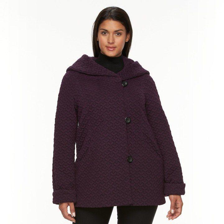 Gallery Women's Hooded Quilted Fleece Jacket