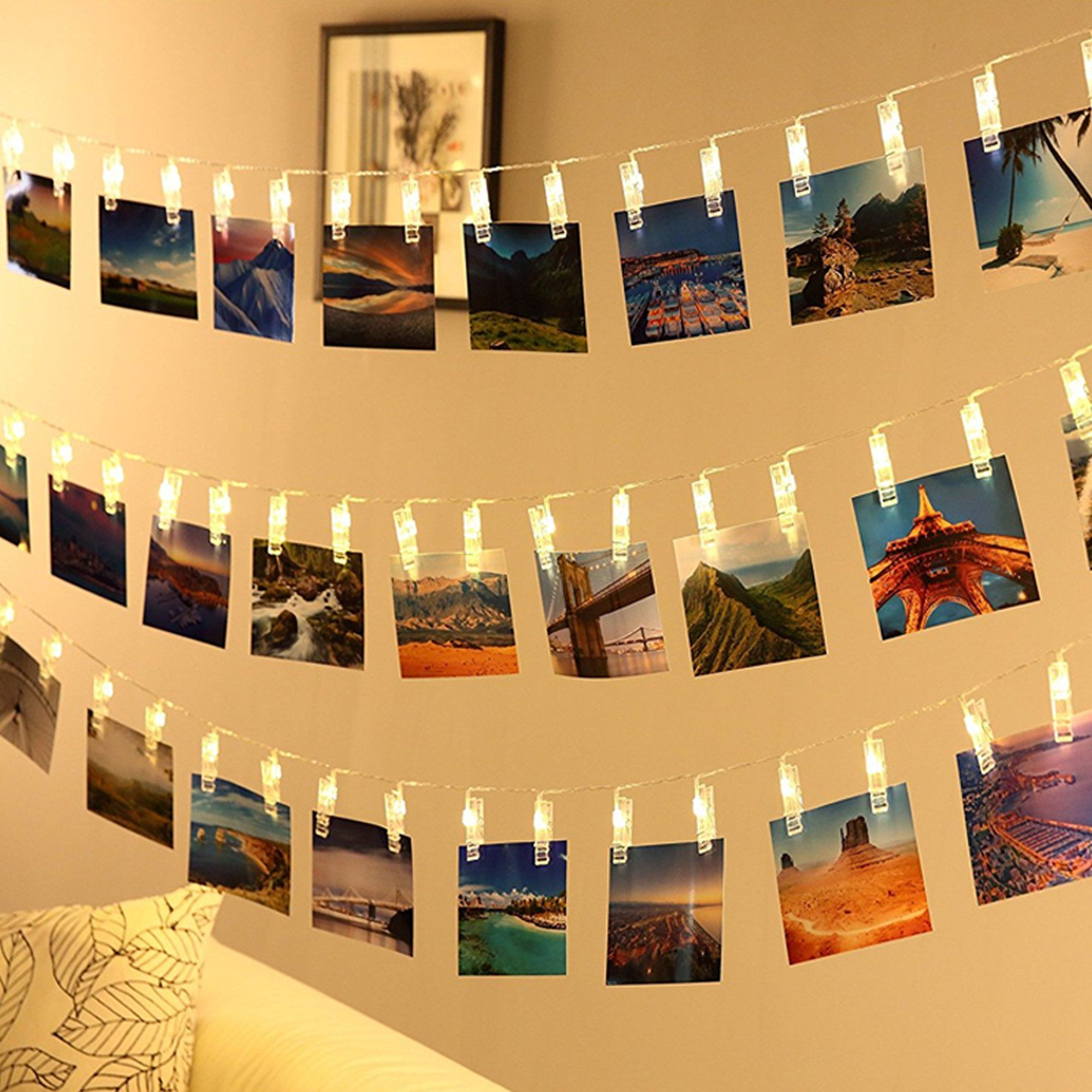Photo Clips String Lights, CtopoGo USB Powered 40 LED Starry Light ...