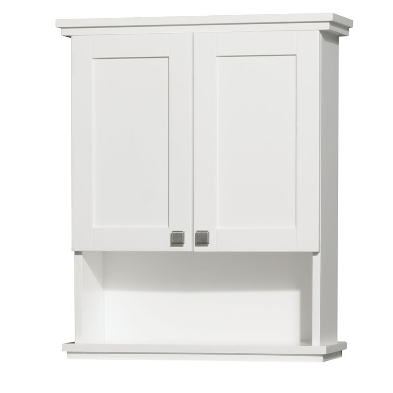 Wyndham Collection Wccg8000wc Wall Mounted Bathroom Cabinets White Bathroom Storage White Bathroom Storage Cabinet