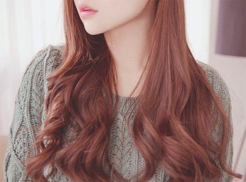 Korean Red Brown Natural Hair Lover With Images Korean Hair