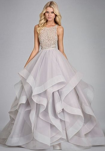 05b390bb104 Jaw dropping tulle bridal gown with halter high neck alabaster and crystal  bodice