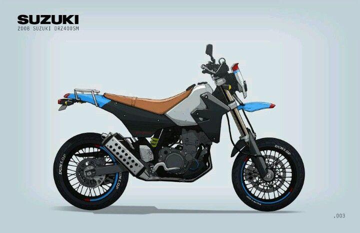 Suzuki Drz400 Motorcycle Illustration Bike Sketch Bike