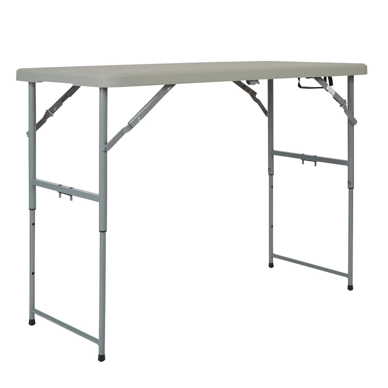 Gray 4 Height Adjustable Folding Resin Multi Purpose Table Folding Table Office Star Adjustable Height Table