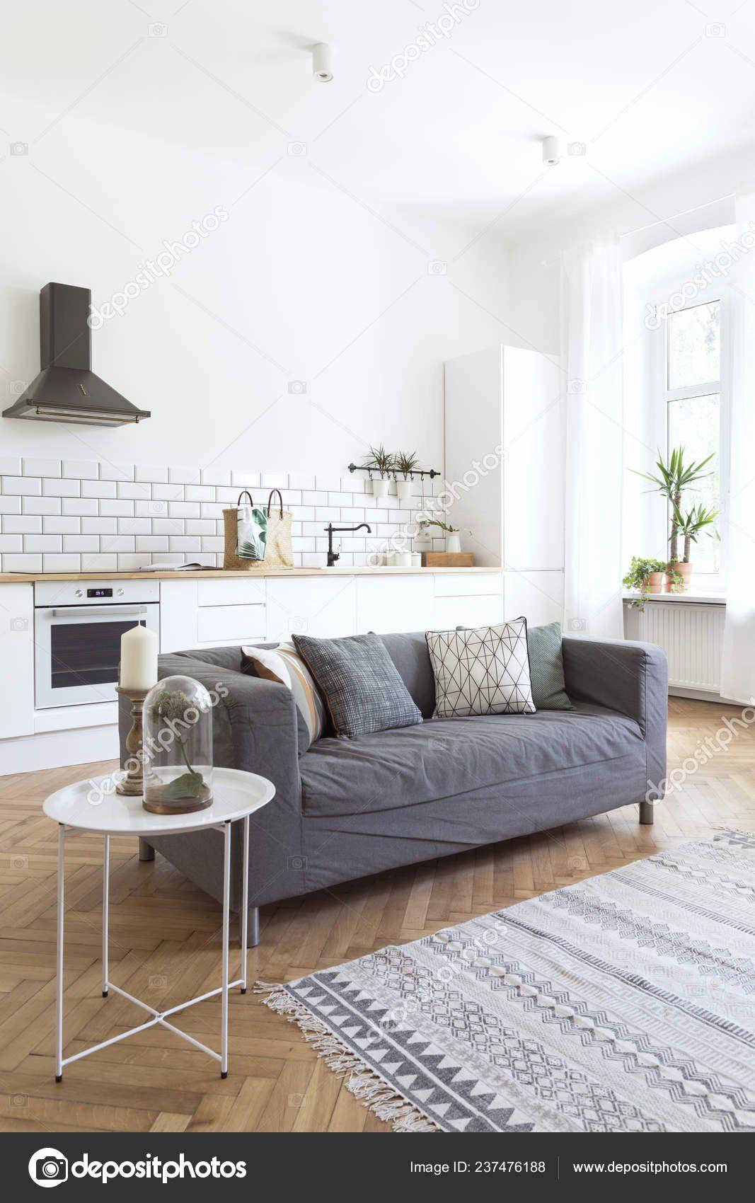 White Walls Living Room Inspirational Modern Open Interior Living Room Kitchen Sty In 2020 White Walls Living Room White Furniture Living Room Modern White Living Room