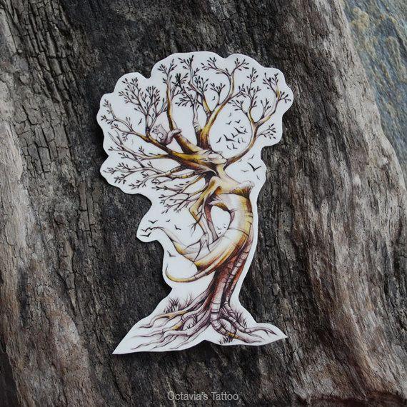 Tree Tattoo, Tree Temporary Tattoo, Dryad A Female Tree