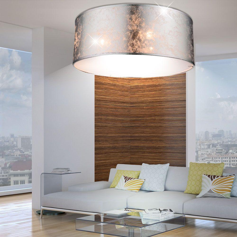 Elegante Deckenleuchte in glänzendem silber AMY  Silber