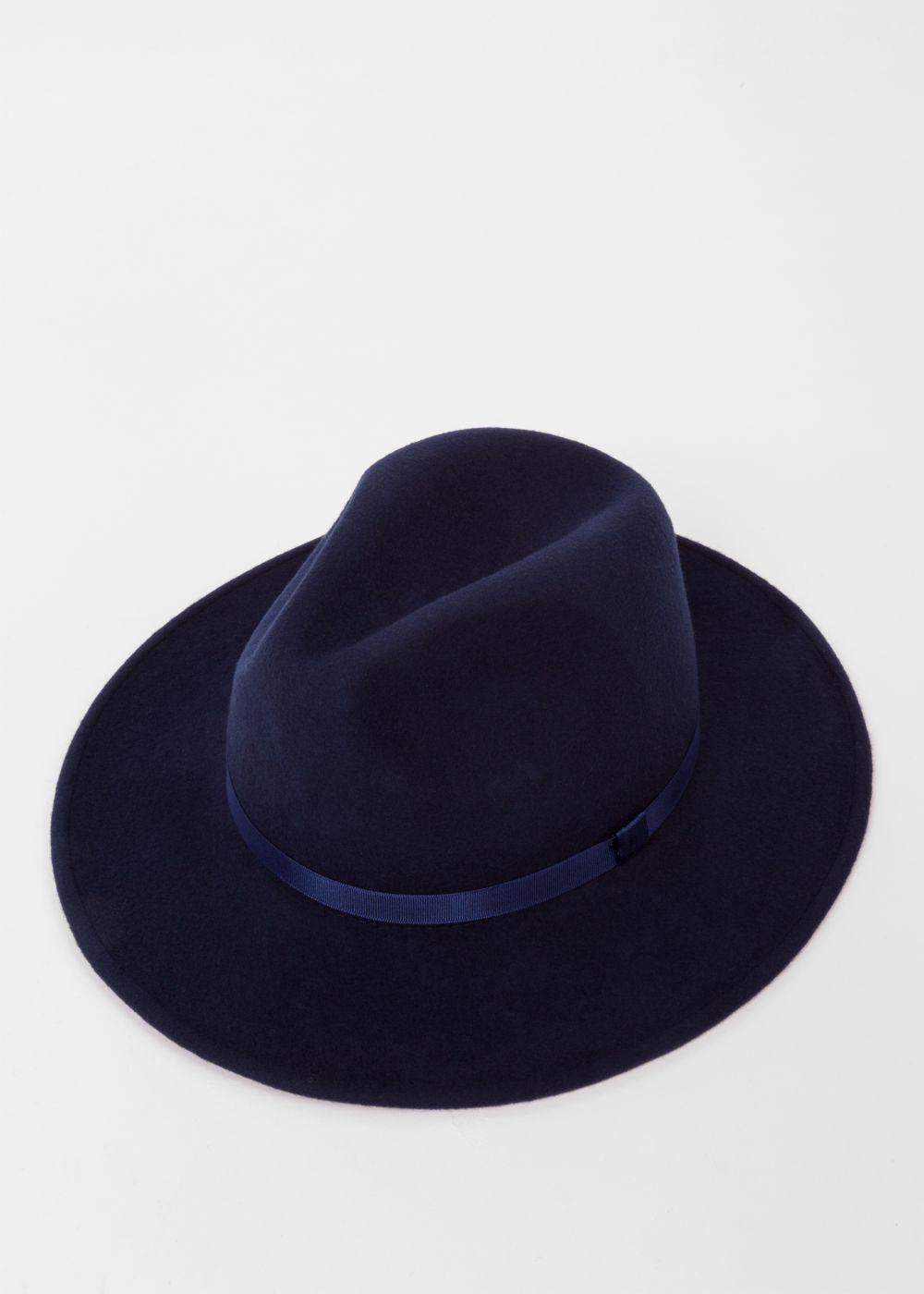 21c62d2a8c Chapeau Fedora Femme Bleu Marine En Laine | A C C E S S O I R E S
