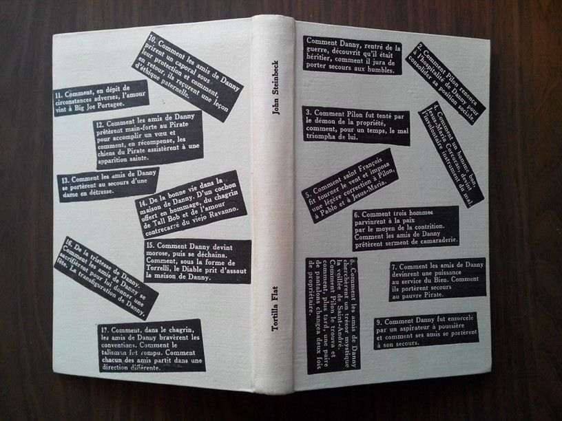 Tortilla Flat John Steinbeck Club Francais Du Livre 1949 Paroles Prevert Livre D Artiste Mise En Page
