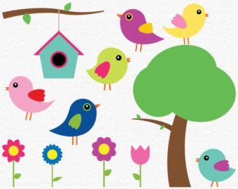 digital bird clip art baby bird clipart spring clip art flower rh pinterest com cute baby bird clipart baby bird clip art free
