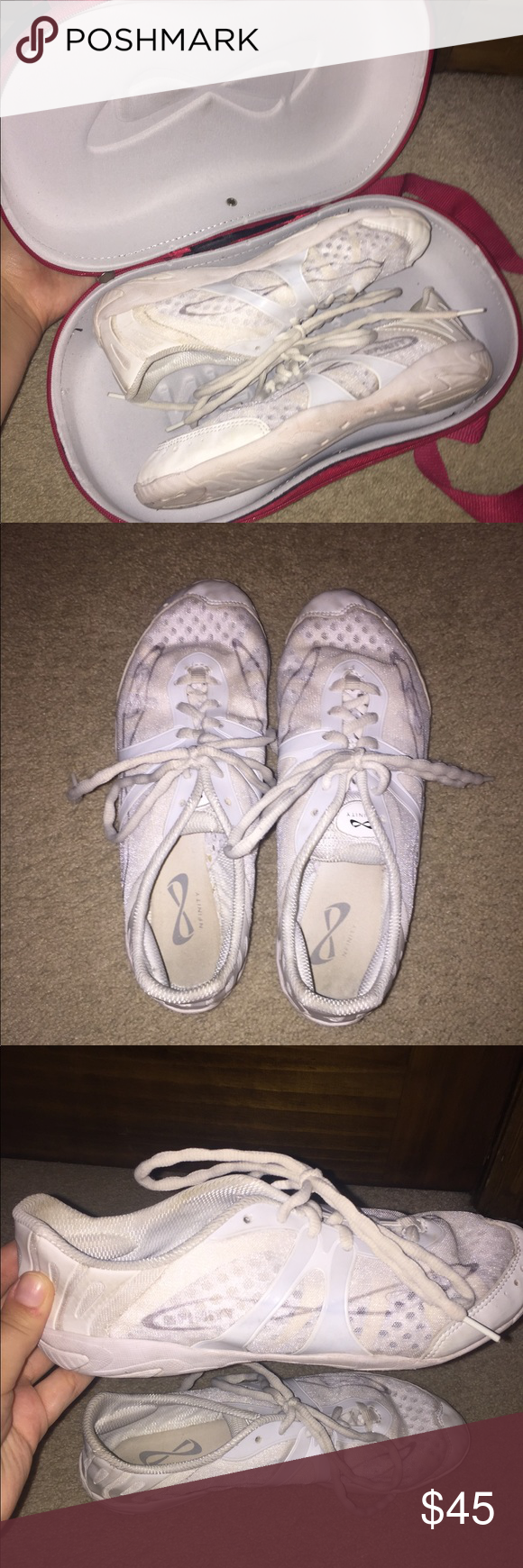 0cd02e3305 NFINITY VENGEANCE CHEER SHOES- SIZE 9.5 with case Used cheer shoes