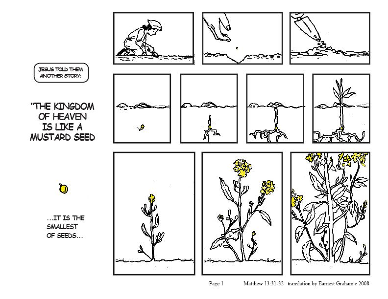 Parable Of Mustard Seed Colouring Pages Page