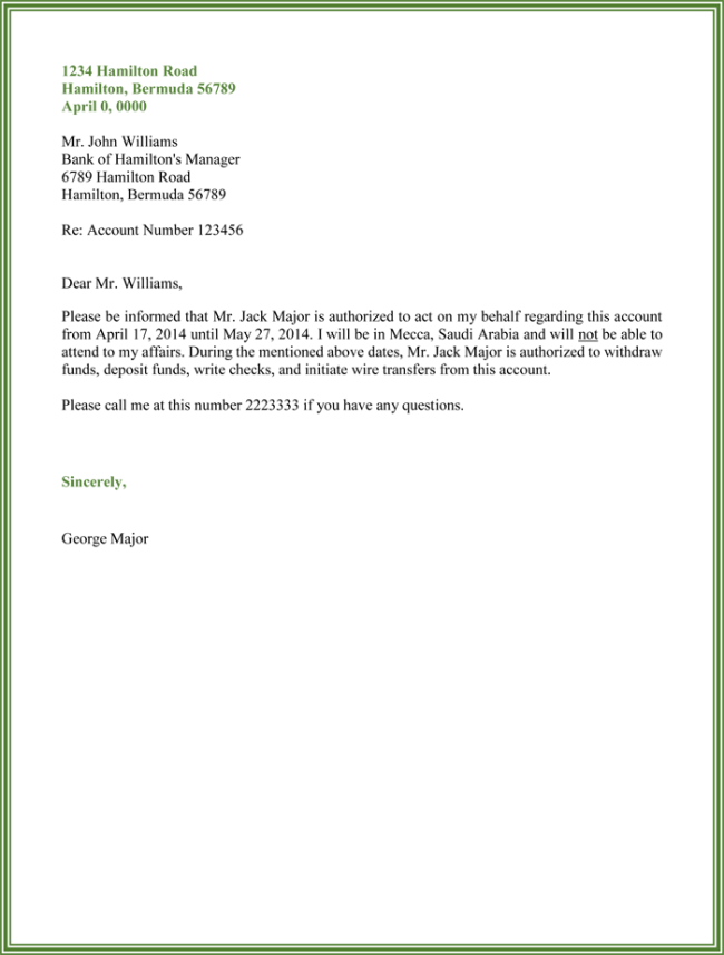 Authorize Letter For Bank from i.pinimg.com