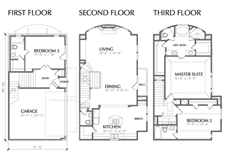 Home ideas:0ne story spanish 3 car garage house planscar parking ...