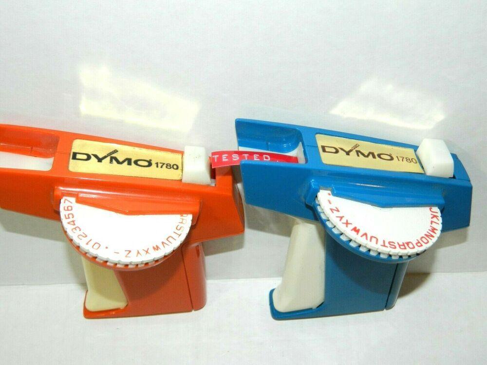 Vintage Dymo 1780 Embossing Label Maker Orange Blue Plastic 3 8 1 4 Lot Of 2 Dymo Embossing Label Maker Label Maker Label Maker Tape