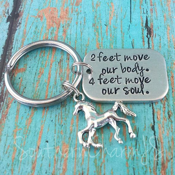 Horse rider keychain Hand stamped keychain for by SouthernCharmJS, $18.00 #horselover