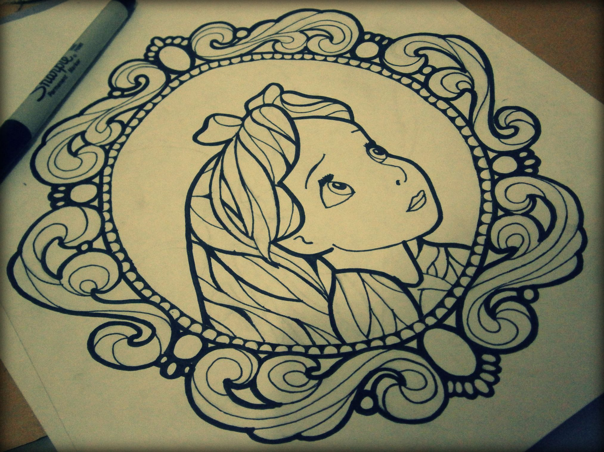Neotraditional Sketch Tattoo Alice Wonderland Frame Tattoo Drawings Art Alice In Wonderland