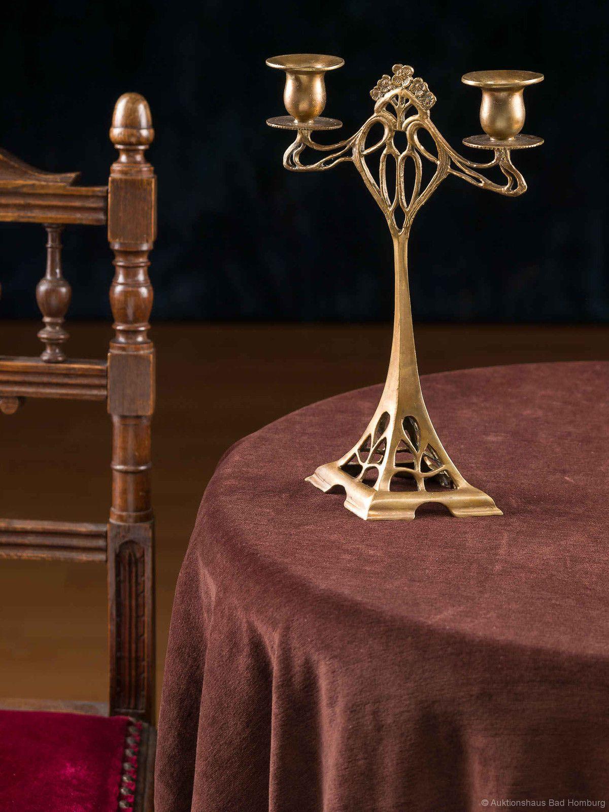 Details zu kerzenst nder leuchter 28cm kerzenleuchter - Farben jugendstil ...