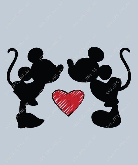 Download Minnie Mickey Kiss SVG, Minnie Mickey Love SVG, Minnie And ...