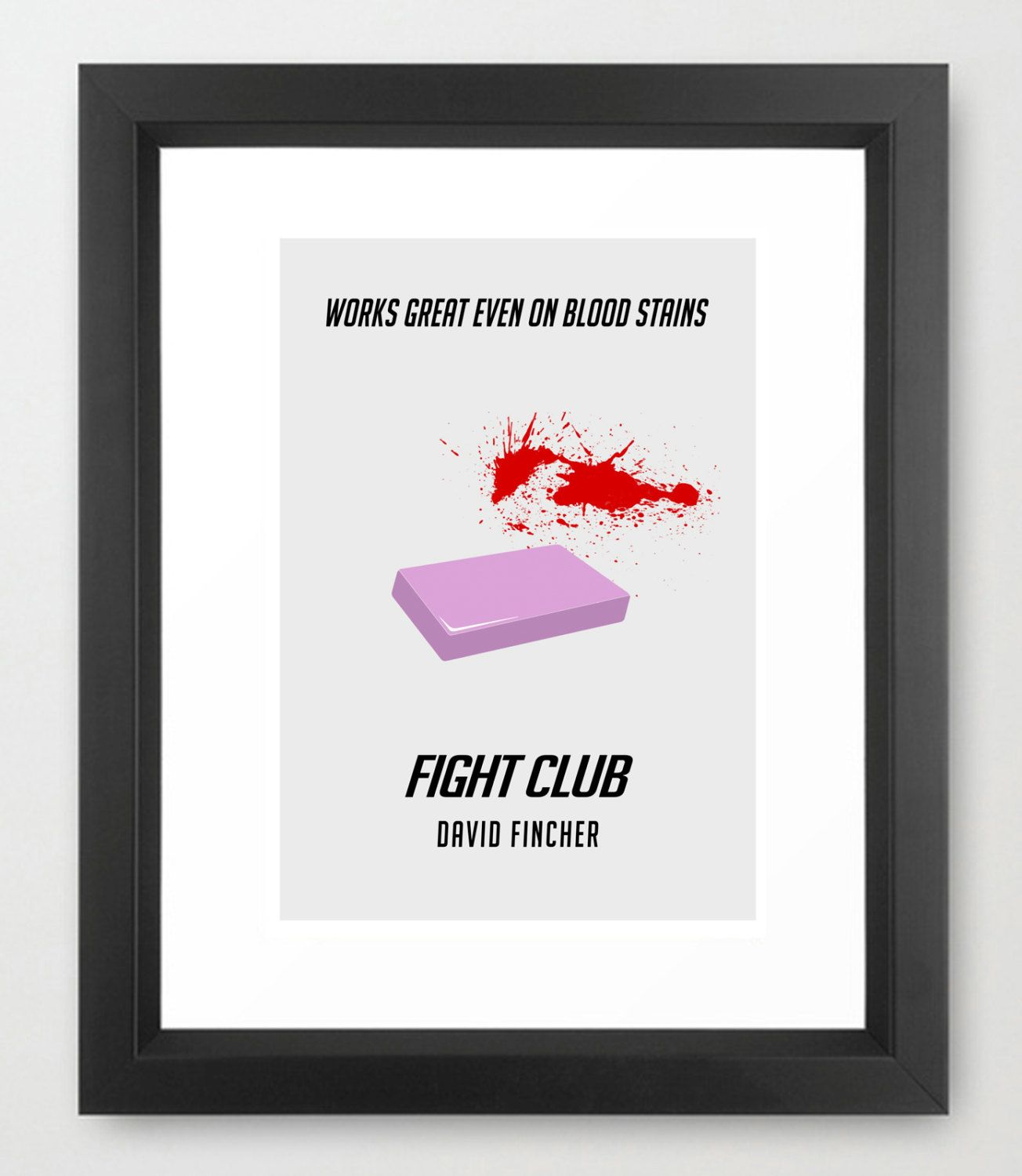 Fight Club Minimal Movie Poster (With Images)