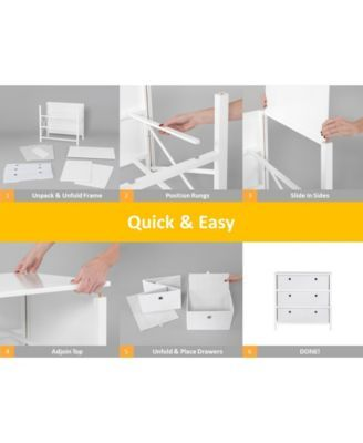 Ez Home Solutions Foldable Furniture 3 Drawer Single Dresser Reviews Furniture Macy S Foldable Furniture Mattress Furniture Furniture