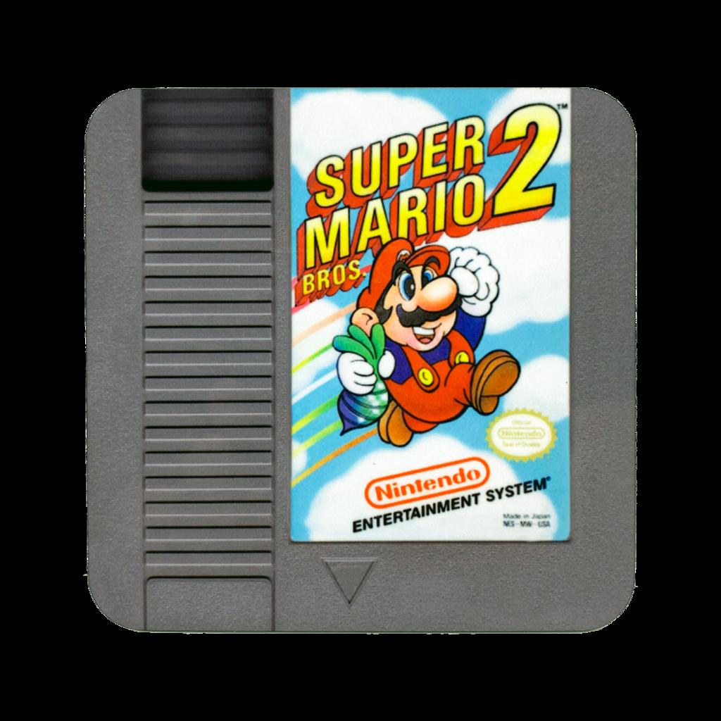 Super Mario Bros 2 Nes Drink Coaster In 2020 Super Mario Bros Mario Bros Super Mario