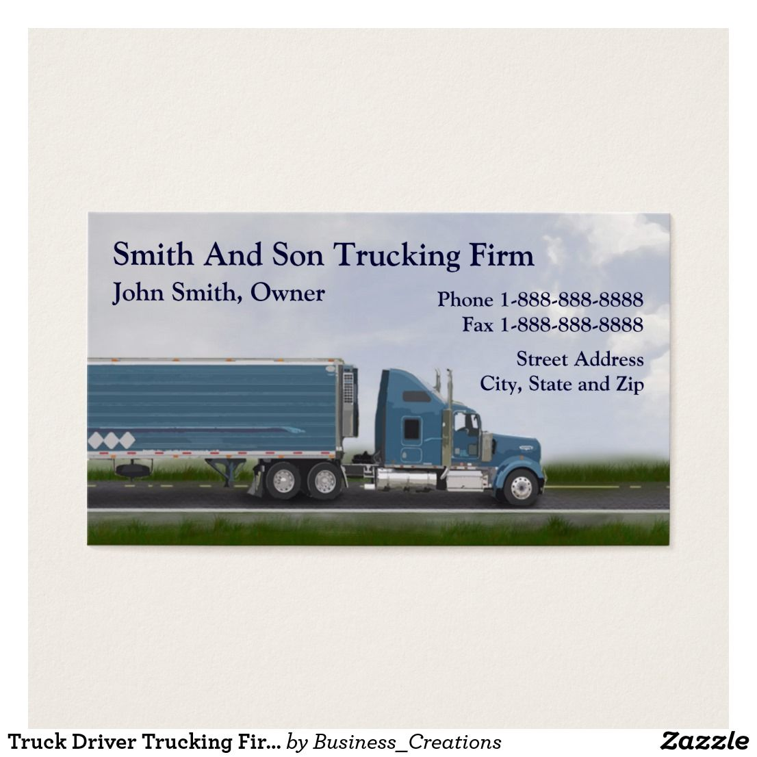 visit - Trucking Business Cards