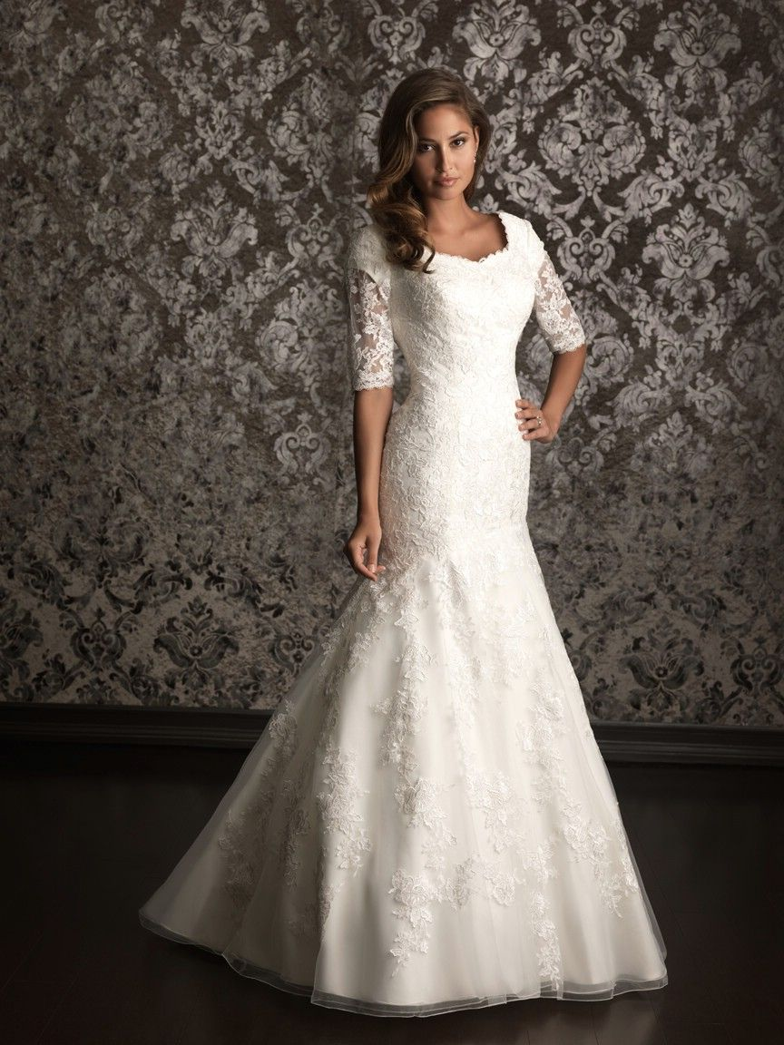 Cheap modest wedding dresses  Really cute modest wedding dress I really love this dress