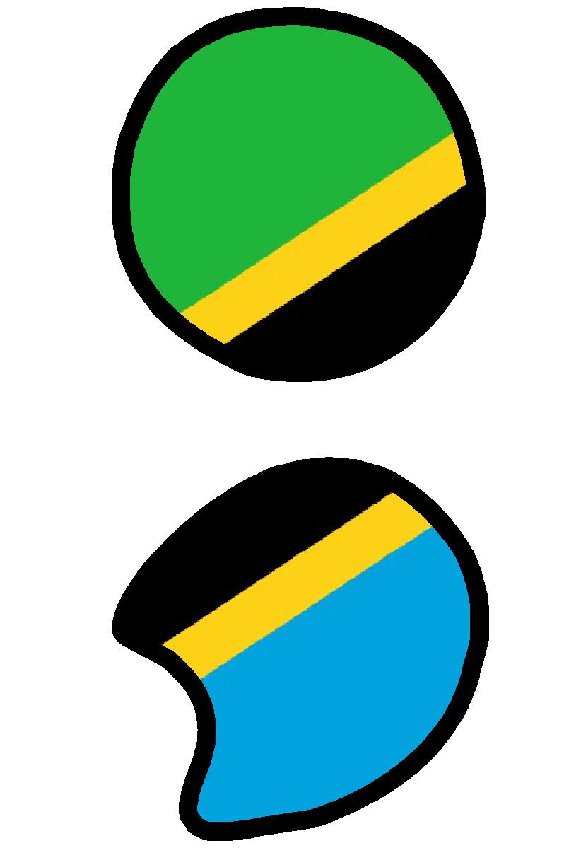 Zeichen Sign Symbol Strichpunkt Semikolon Semicolon Tanzania Pie Chart Dodoma