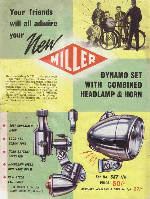 Miller The Predominant Brand Of Bicycle Dynamos Old Ads Old Advertisements Vintage Advertisements
