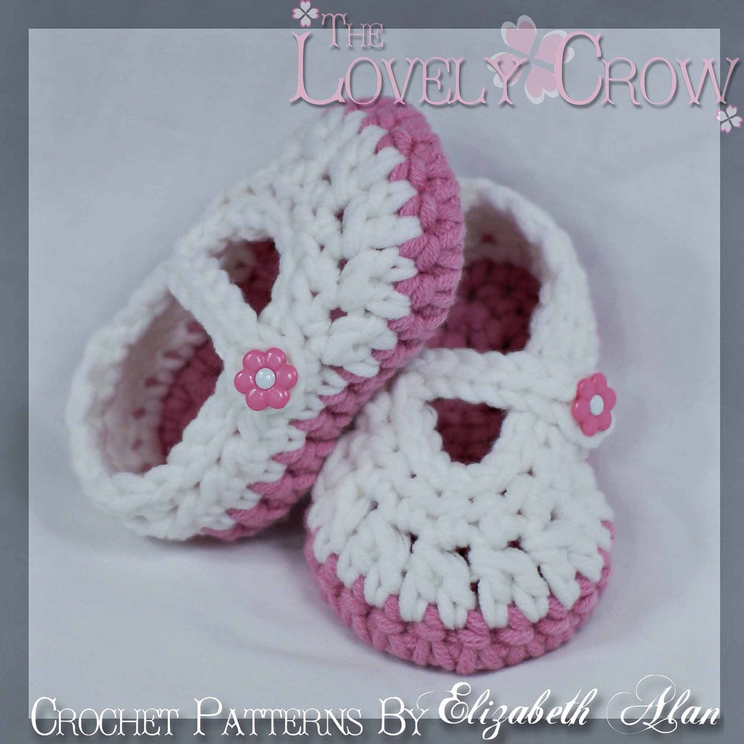 Free Baby Crochet Patterns | Baby Booties Crochet Pattern for Bulky Baby Button Maryjanes. digital