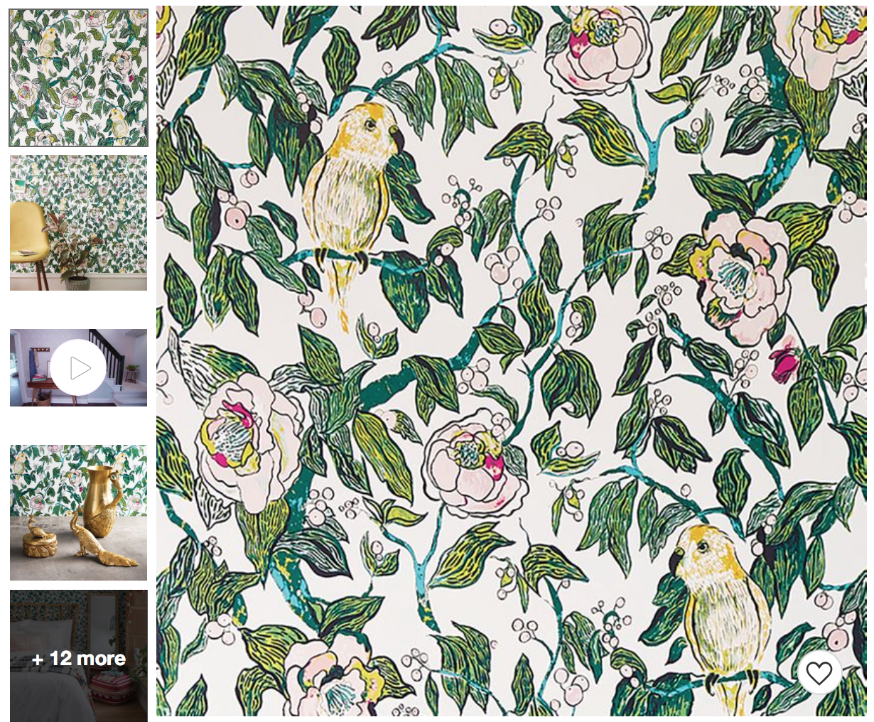 Canary Floral Peel Stick Wallpaper Opalhouse In 2020 Peel And Stick Wallpaper Wallpaper Floral Wallpaper