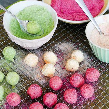 Mini-Pralinen im Zuckermantel #pralinecake