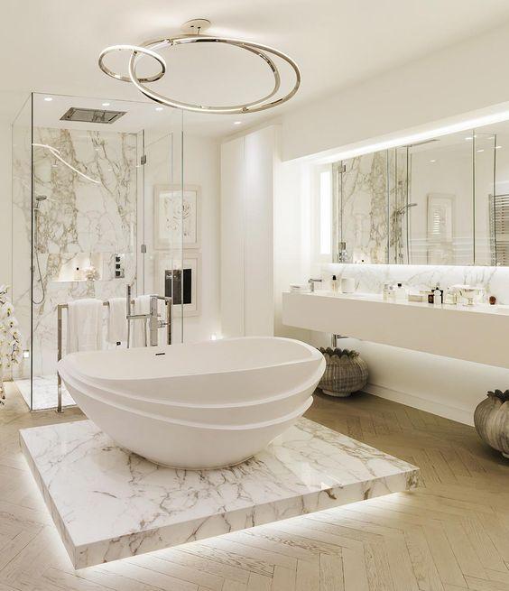 Big branco mármore Banheiros Toilets Pinterest Kelly