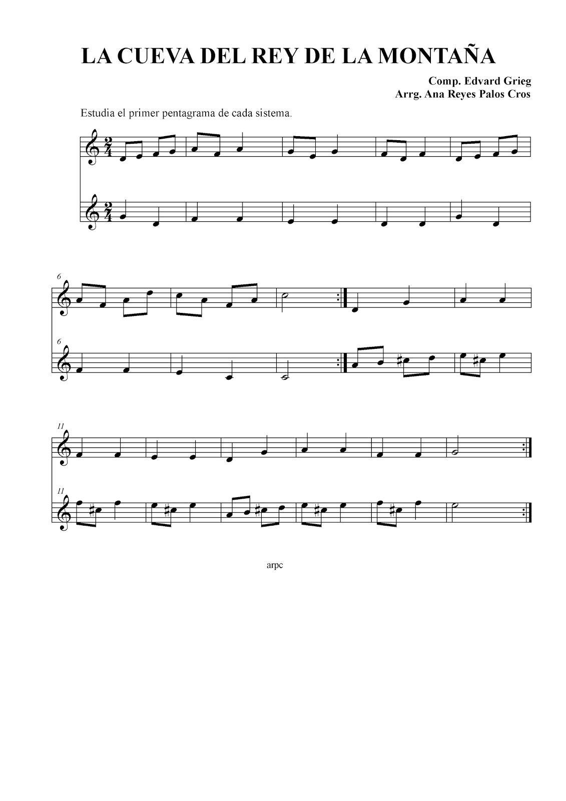 Clase De Música La Cueva Del Rey De La Montaña Clase De Musica Rey Cuevas