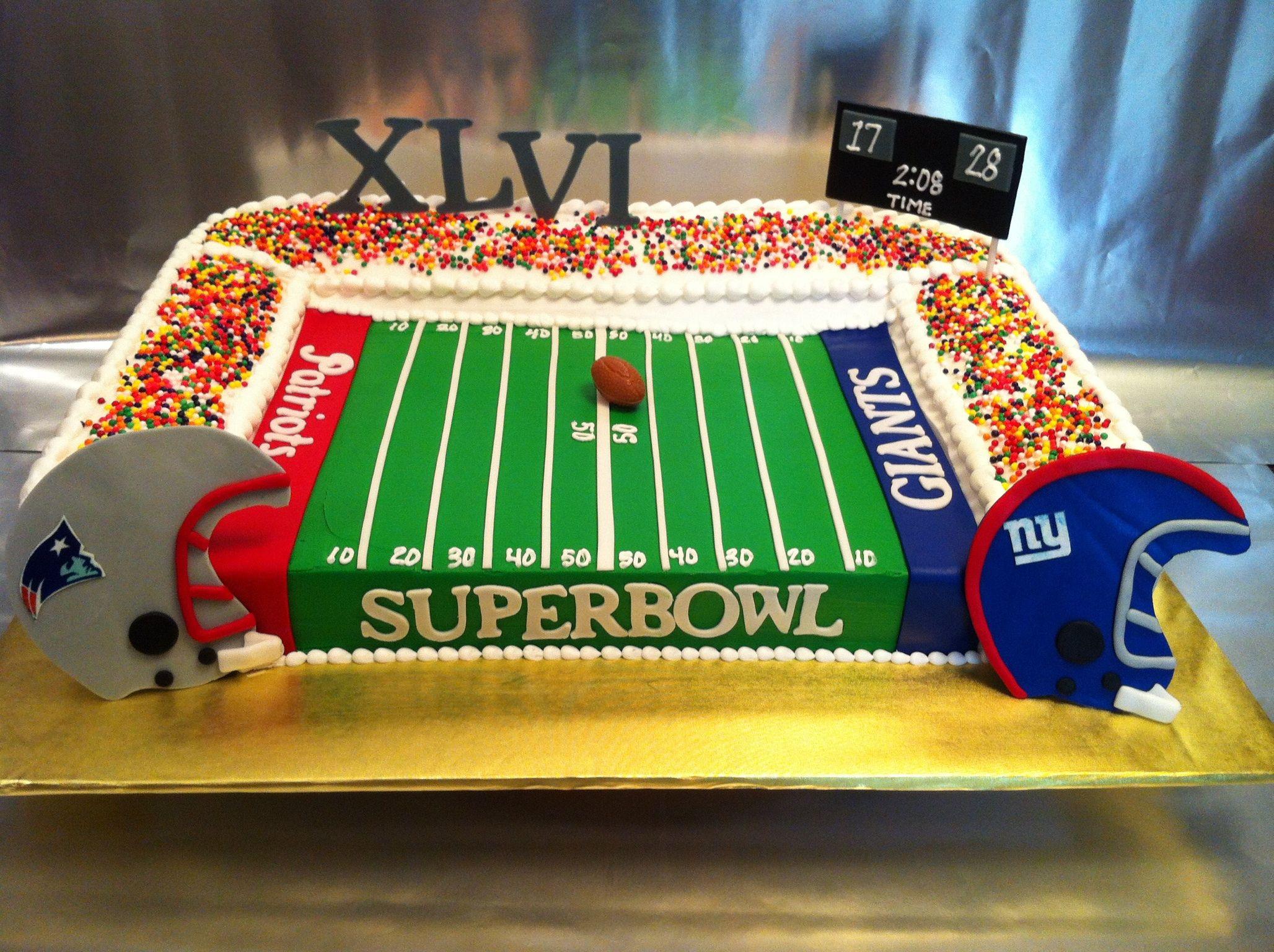 Birthday Bowl: Super Bowl Stadium Cake