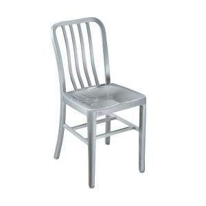 Exceptionnel Home Decorators Collection Sandra Brushed Aluminum Side Chair With Metal  Seat 2478400440 At The Home Depot