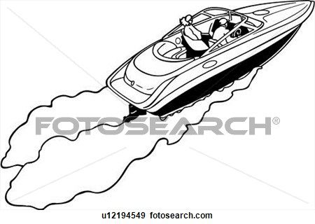 39++ Speed boat clipart black and white info