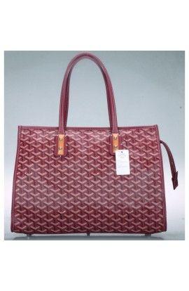 60f7c5b0d80f Goyard Sac Marquises Zippered Tote Bag Burgundy | Cheap Goyard ...